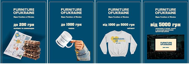 Зробити благодійний внесок на промо Furniture of Ukraine